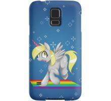 [collab] Grey Fluffy Unicorn Derping on rainbows Samsung Galaxy Case/Skin