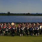 The photographer and massed pipe band by myraj
