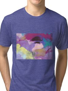 Abstract Painting in rose and purple 13/18 Tri-blend T-Shirt