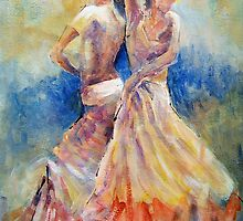 Double Flamenco - Dance Art Gallery by Ballet Dance-Artist