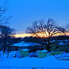 Sundown At The End Of A Snow Day by Vince Scaglione