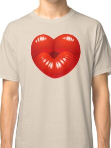 Heart Kiss Cool Kids Clip Art Classic T-Shirt