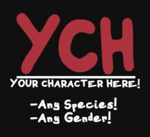 Your Character HERE! -for dark shirts- by RainbowRunner