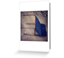 "Blue ""Recliner"" on Broadway Greeting Card"