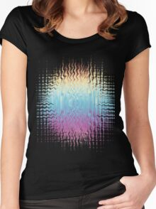 Psychedelic Glitch  Women's Fitted Scoop T-Shirt
