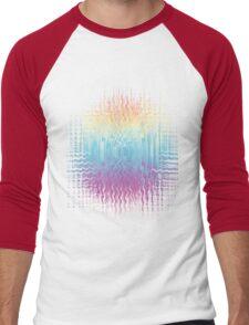 Psychedelic Glitch  Men's Baseball ¾ T-Shirt