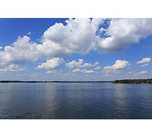 Sky, clouds and river Photographic Print