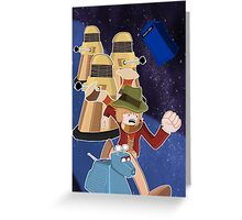 Doctor Who Adventure Time style Greeting Card