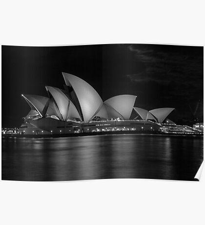 Sydney Opera House BW Poster