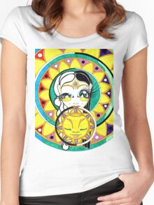 Eclipse Mandala Goddess Women's Fitted Scoop T-Shirt