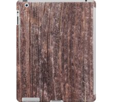 Upright board wall with worn old reddish paint iPad Case/Skin