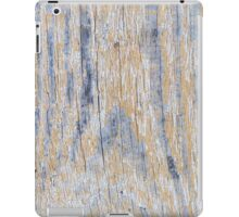 Old worn plank wall with white paint iPad Case/Skin