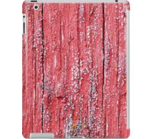 Bright red board wall with small mold growing iPad Case/Skin