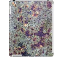 Old rusted barrel with petrol green paint iPad Case/Skin