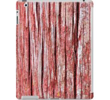 Cracked and softened red board wall iPad Case/Skin