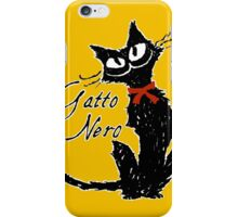 Red ribbon and Black cat iPhone Case/Skin