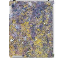 Old rusted metal surface with small yellow mold iPad Case/Skin