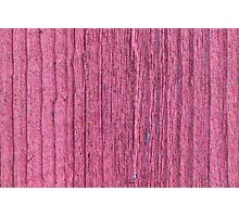 Softened board wall with bright red paint Photographic Print