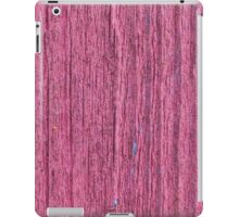 Softened board wall with bright red paint iPad Case/Skin