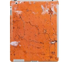 Cracked yellow brick with pieces of white plaster iPad Case/Skin
