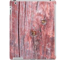 Old worn plank wall with cracked old red iPad Case/Skin