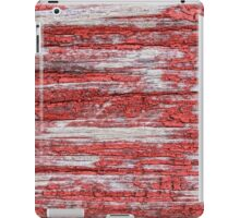Old worn horizontal timber wall iPad Case/Skin