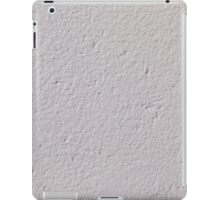 Concrete wall with white paint iPad Case/Skin