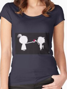 Jenny gives her heart away Women's Fitted Scoop T-Shirt