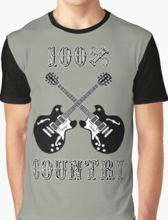 100% Country Music Graphic T-Shirt