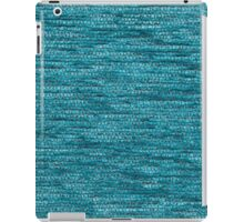 Light blue fur and light gray strings iPad Case/Skin