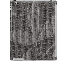 Black nodes forming a shape of a leaf iPad Case/Skin