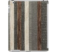 Different shapes and structures of brown, white and black strings in upright direction iPad Case/Skin