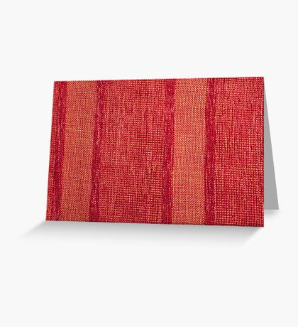 Variable colors of red strings and red fur Greeting Card