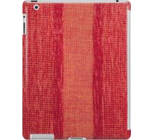 Variable colors of red strings and red fur iPad Case/Skin