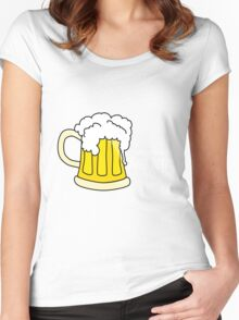 Beer white Women's Fitted Scoop T-Shirt