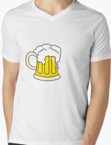 Beer white Mens V-Neck T-Shirt