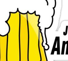Beer black Sticker
