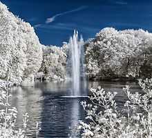Fountain in Infrared by BonniePhantasm
