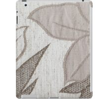 Light brown strings forming a flower on a white base iPad Case/Skin
