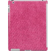 Short red furry strings iPad Case/Skin