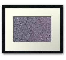 Short gray furry strings Framed Print