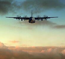 C-130E Inbound by J Biggadike