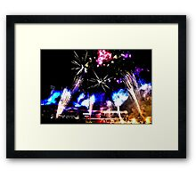 Royal Easter Show Fireworks 2014 HDR Framed Print