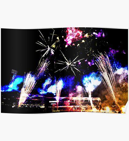 Royal Easter Show Fireworks 2014 HDR Poster