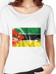 Mozambique Flag Women's Relaxed Fit T-Shirt