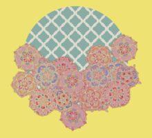 Floral Doodle on Mint Moroccan Lattice Kids Clothes