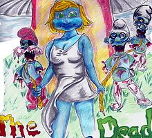 The Smurfing Dead by magickalbeam