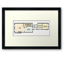 Sherlock Holmes Apartment 221B Baker Street Framed Print