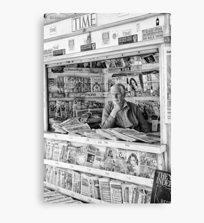 Paper Seller Canvas Print