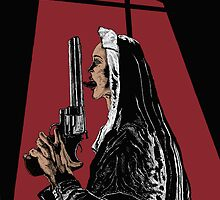 Nun With a Gun by d-dreg